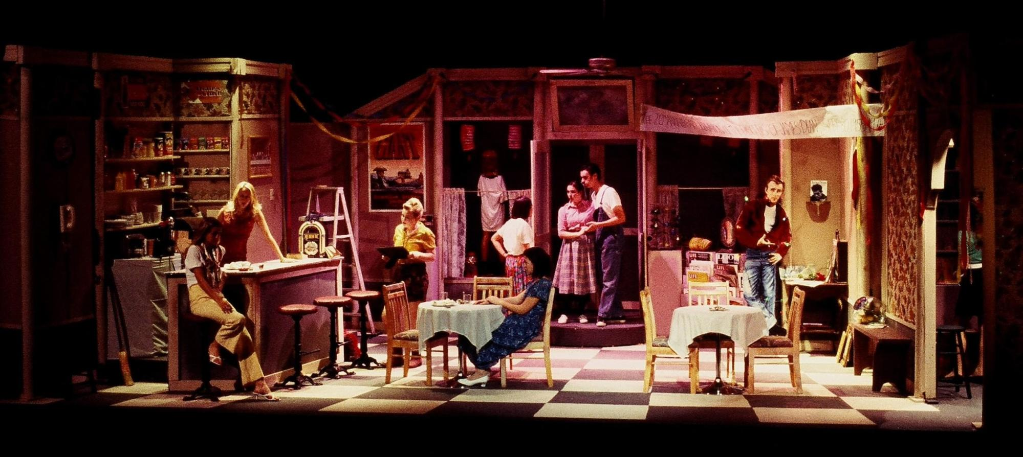 Production Photo, Come' Back to the Five-n-Dime, Jimmy Dean, Montgomery High School Santa Rosa, CA. (set construction by students)
