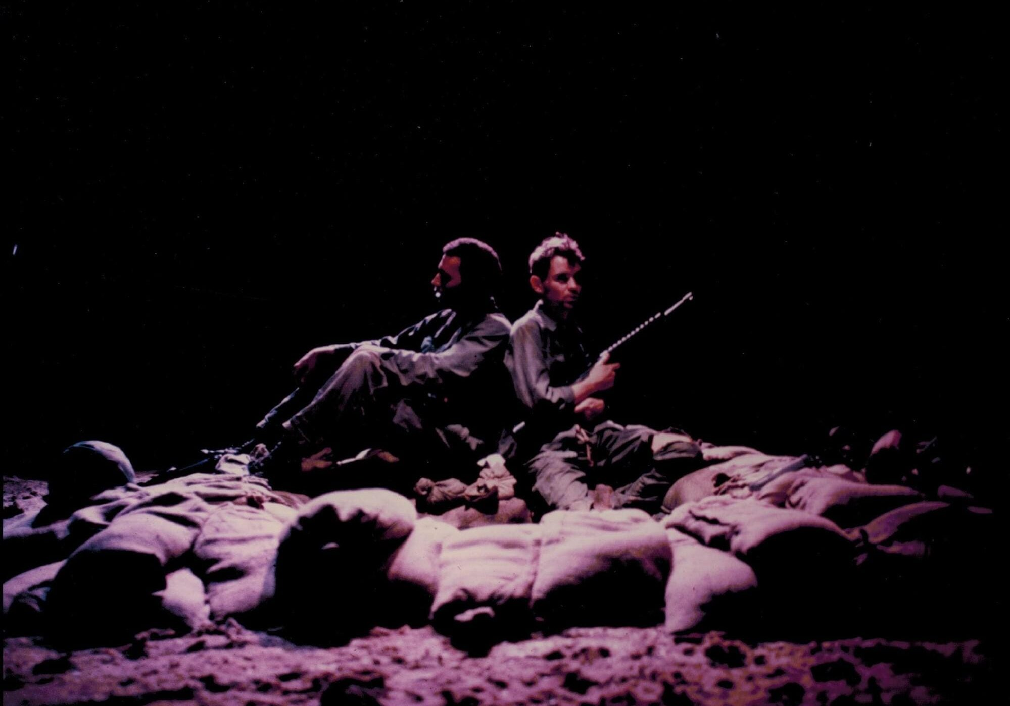 Back-to-Back, (Al Brown) Julian Theatre, 1981. The lighting earned a Bay Area Critic's Circle nomination. (Photo: J. Eis)