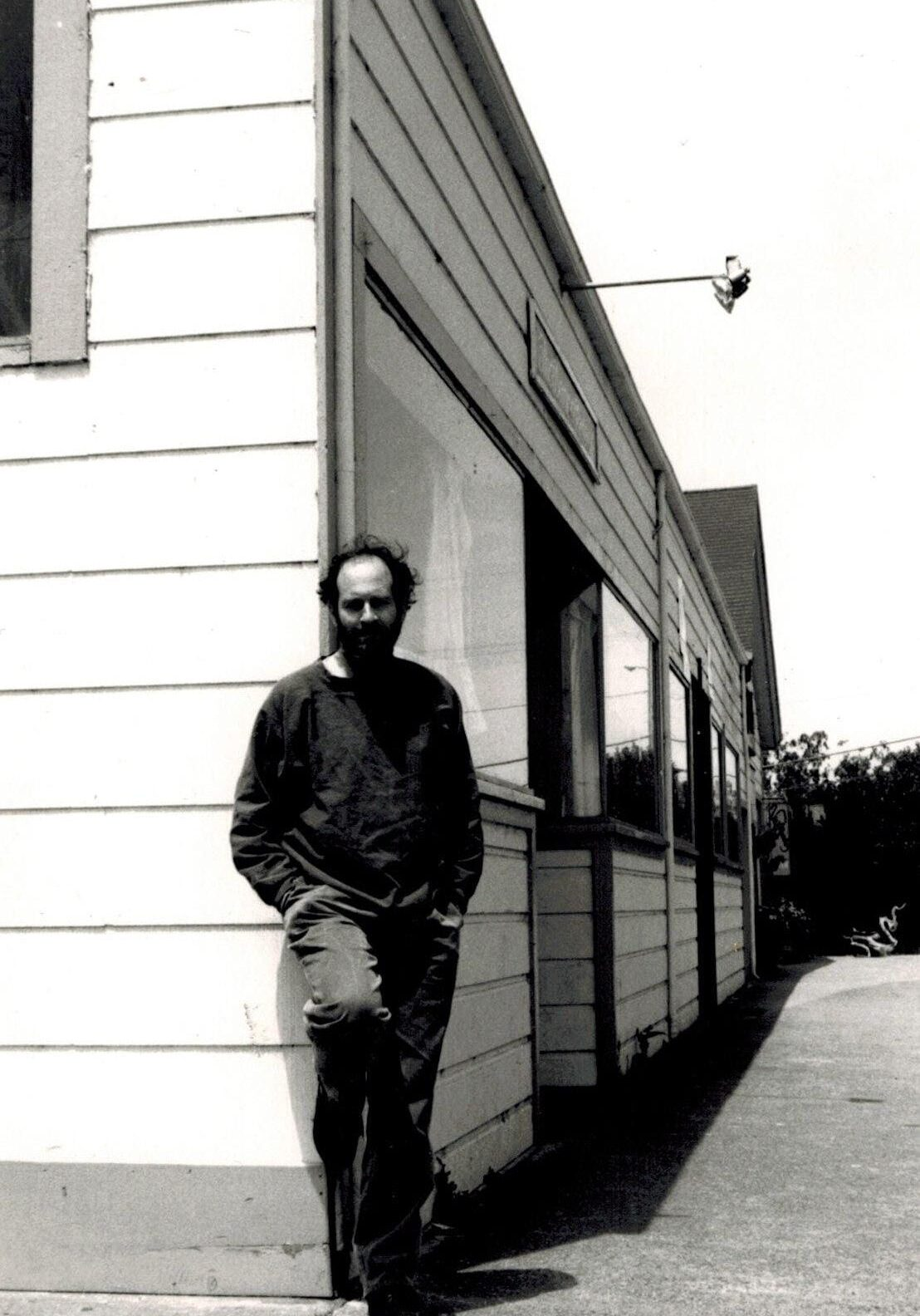 Joel Eis in Point Reyes Station, CA 1988, (photo, J. Brightwolf)